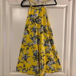 French Grey Melcy Yellow Floral Dress Size Large